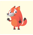 cute cartoon fox mascot vector image