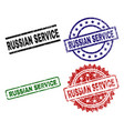 damaged textured russian service stamp seals vector image vector image