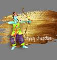 design krishna shoots an arrow from a bow vector image vector image