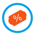 Discount Label Rounded Icon vector image