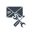 e-mail support glyph icon vector image