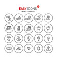 easy icons 11b money vector image vector image