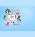 flat lay holiday christmas vector image vector image