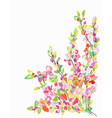 Flower border card for greeting card vector image vector image