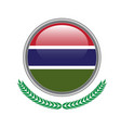 gambia flag button gambia flag icon of gambia vector image