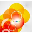 Geometric color circles modern template
