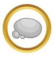 Gray stones icon vector image