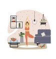 healthy lifestyle flat style design vector image vector image