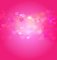 hearts in light vector image vector image