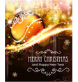holiday background with golden christmas ball vector image