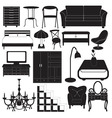 Home Furniture Icons Set vector image vector image