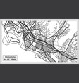 honolulu usa city map in retro style outline map vector image vector image