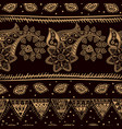 indian seamless pattern wallpaper with paisley vector image vector image