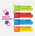 infographic template for presentation and business vector image vector image