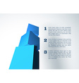 Infographic with blue 3D cube pyramid vector image vector image