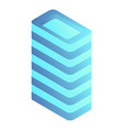 intelligent building icon isometric style vector image vector image
