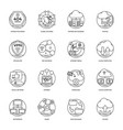 internet icons line pack vector image vector image