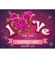 Invitation card with flowers to party on vector image vector image