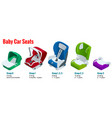isometric baby car seat group 0123