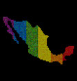 lgbt dotted mexico map vector image