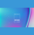 liquid gradient color background design fluid vector image vector image