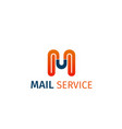 mail service icon vector image
