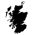 map scotland vector image vector image