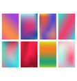 minimal bright vivid gradient covers design vector image vector image