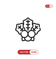 mistletoe icon vector image vector image