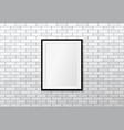 modern frame on brick wall mock up vector image vector image