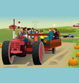 people on a hayride vector image vector image
