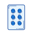 pills in blister line icon vector image vector image