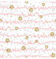 pink and white ruffle stripe seamless pattern with vector image vector image
