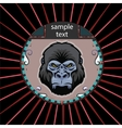 Portrait of a orangutan vector image vector image