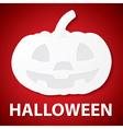 Pumpkin halloween paper vector image