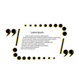 quote template framework for comments statements vector image