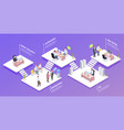 recruitment isometric background composition vector image vector image