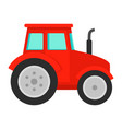 red tractor icon flat style vector image vector image