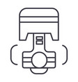repair car engine piston line icon sign vector image