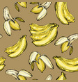 seamless fruit pattern with banana vector image