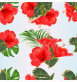 seamless texture tropical flowers floral vector image vector image