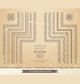 set 10 vintage lace crochet seamless brushes vector image vector image