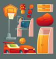 set children bedroom playroom vector image