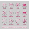 set futuristic user interface icons vector image vector image
