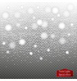 set of snow icicles isolated on transparent vector image vector image
