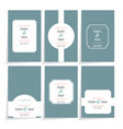 set template cards vector image vector image