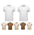 set white and colorful male shirts vector image