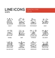 Ships - line design icons set vector image vector image