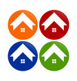 simple house shape circle round icons vector image vector image