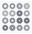 Snowflake icons Christmas and New year symbol vector image